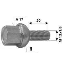 Болт норм. L20-M12x1.5R-A17