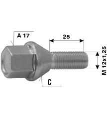 Болт норм. L25-M12x1.25-C-A17