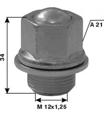Болт норм. L25-M12x1.25-C-A21 -Nissan